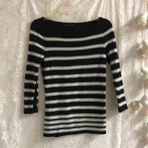 rag & bone striped top black/white sz XS